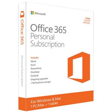 Microsoft Office 365 Personal 1 YR Subscription