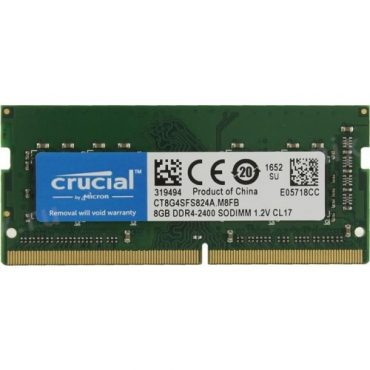 Crucial 8gb Ddr4 2400mhz So Dimm Single Rank Memory Chaos Computers