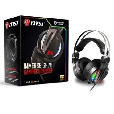 MSI IMMERSE 7.1 Audio GH70 Wired Gaming Headset